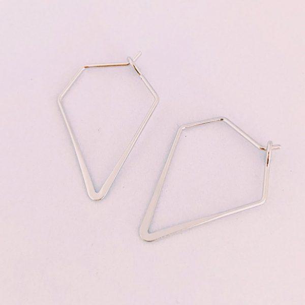 Ohrringe-Diamond-silber