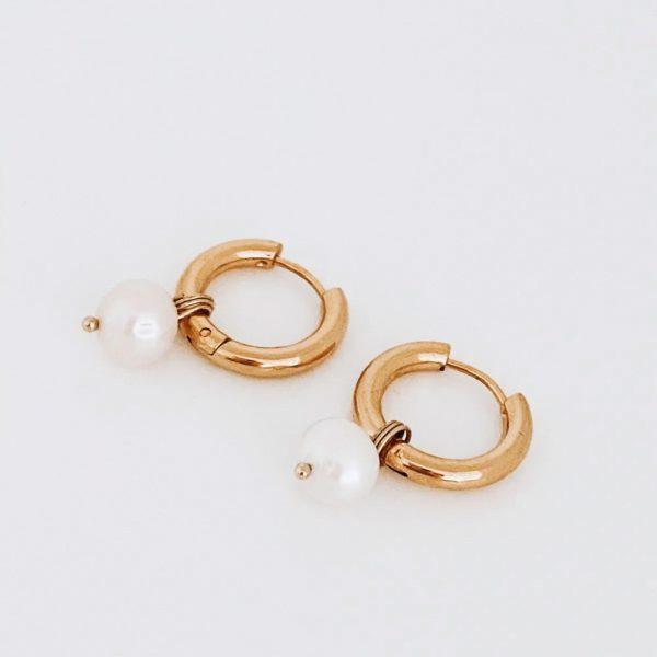 Ohrringe-Pearl-Hoop