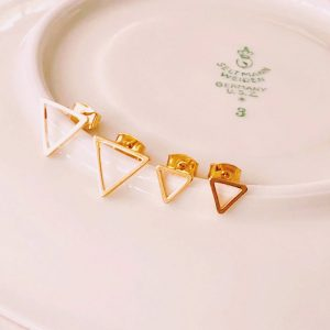 Ohrstecker-Triangle-gold