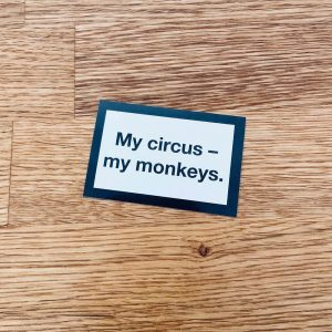 Sticker-My-circus-my-monkeys